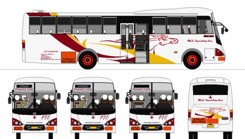Beautiful ... Philippine Touristers, Inc. (JAM) Nissan Diesel SR MetroRider | By  Renan Sityar