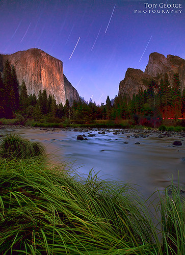 Star trails at the Valley in Yosemite National Park, CA | by tojygeorge