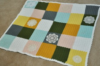 Crocheted Patchwork blanket | by emmmylizzzy