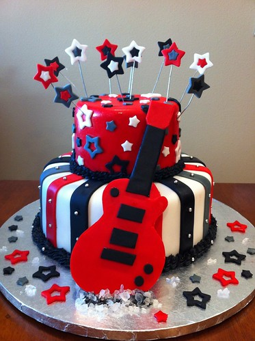 rock star baby shower cake melissa wollmann flickr. Black Bedroom Furniture Sets. Home Design Ideas