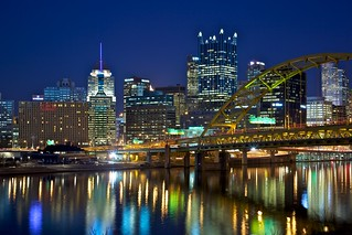 Downtown Pittsburgh from West Carson Street | by jiuguangw