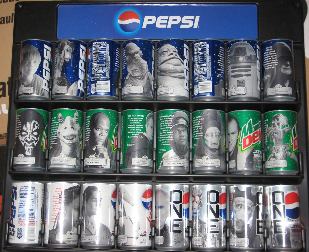 star wars episode i pepsi cans entire set of 24 character flickr