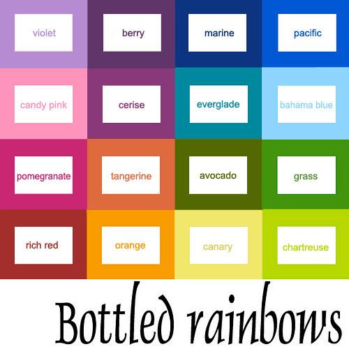 Bottled Rainbows Color Grid