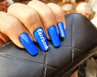 FACEBOOK NAIL ART :P | by Durga Parmar