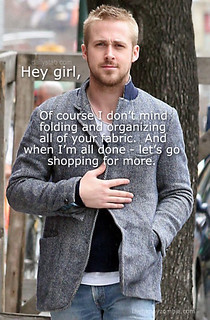 ryan gosling fabric shopping | by Happy Zombie