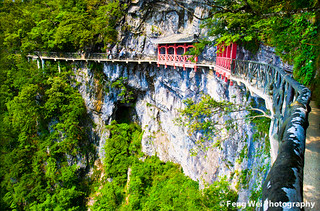 Plank road along high cliff, Mount Tianmen, China | by Feng Wei Photography
