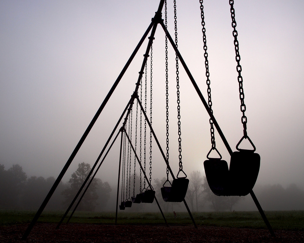 Playground Shot At A Local Metro Park On A Very Foggy Fall Flickr