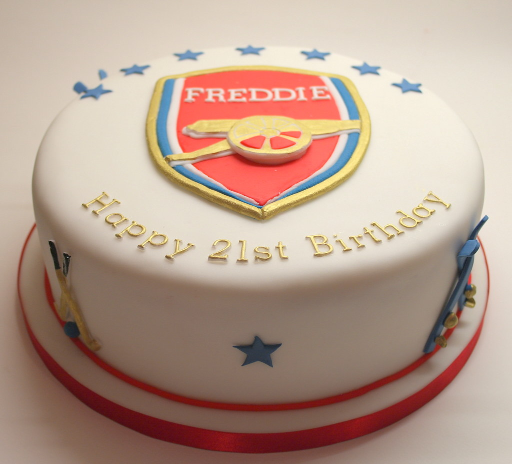 Arsenal themed 21st birthday cake A last minute order for Flickr