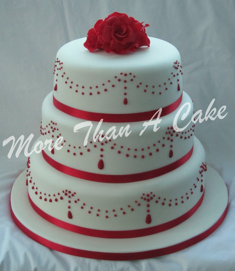 Red Velvet Wedding Cake | 3 tier red velvet wedding cake wit… | Flickr