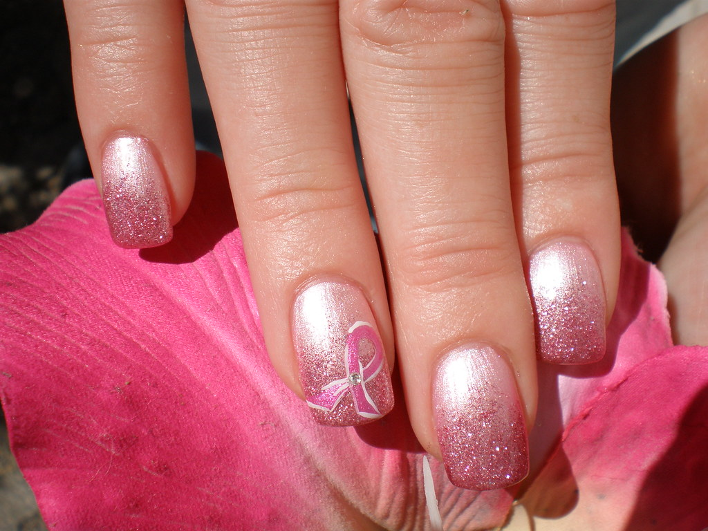 Nail Art Pink Ribbon Nailart | Nicole | Flickr
