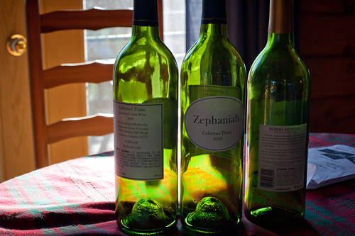 Wine Bottles in the Sun | by goingslowly