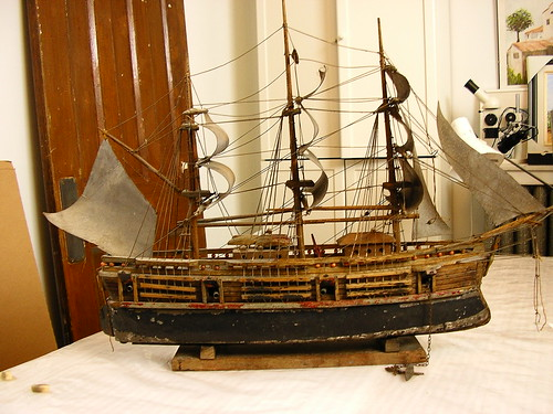 3 - Ship model: after cleaning | by Webb Conservation
