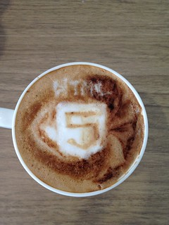 Today's failed latte, HTML5 logo... no chance! lol | by yukop