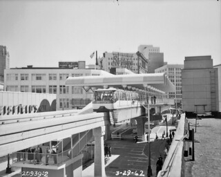 Monorail at downtown station, 1962 | by Seattle Municipal Archives