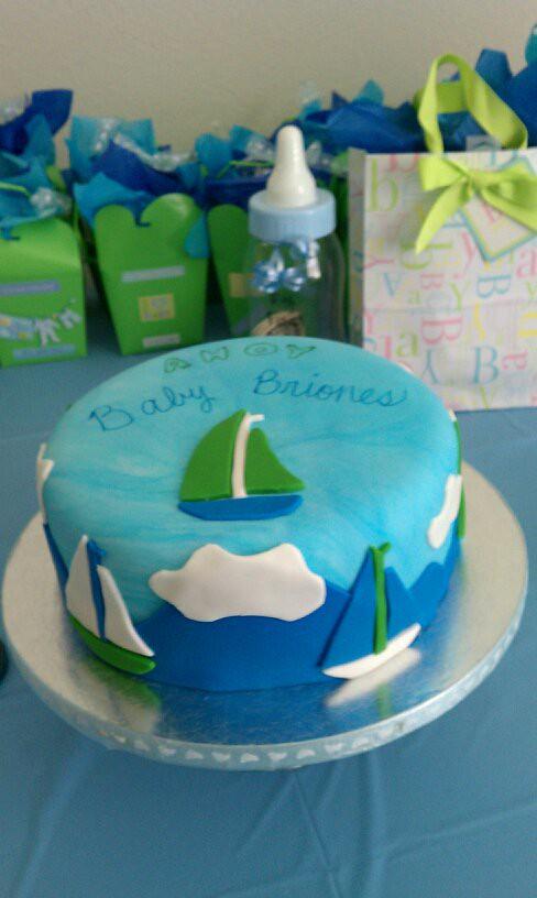 Sailboat Theme Baby Shower Cake Sailboat Theme Baby Shower Flickr