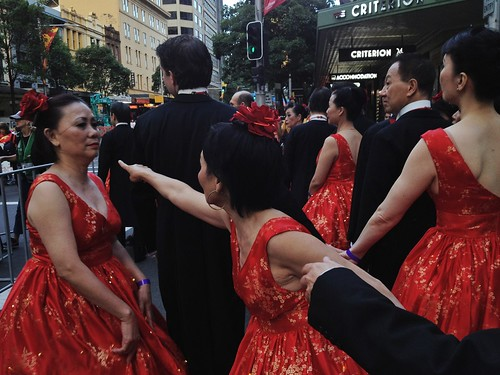 Dancers, preparing for the Chinese New Year Parade in Sydney | by oggsie