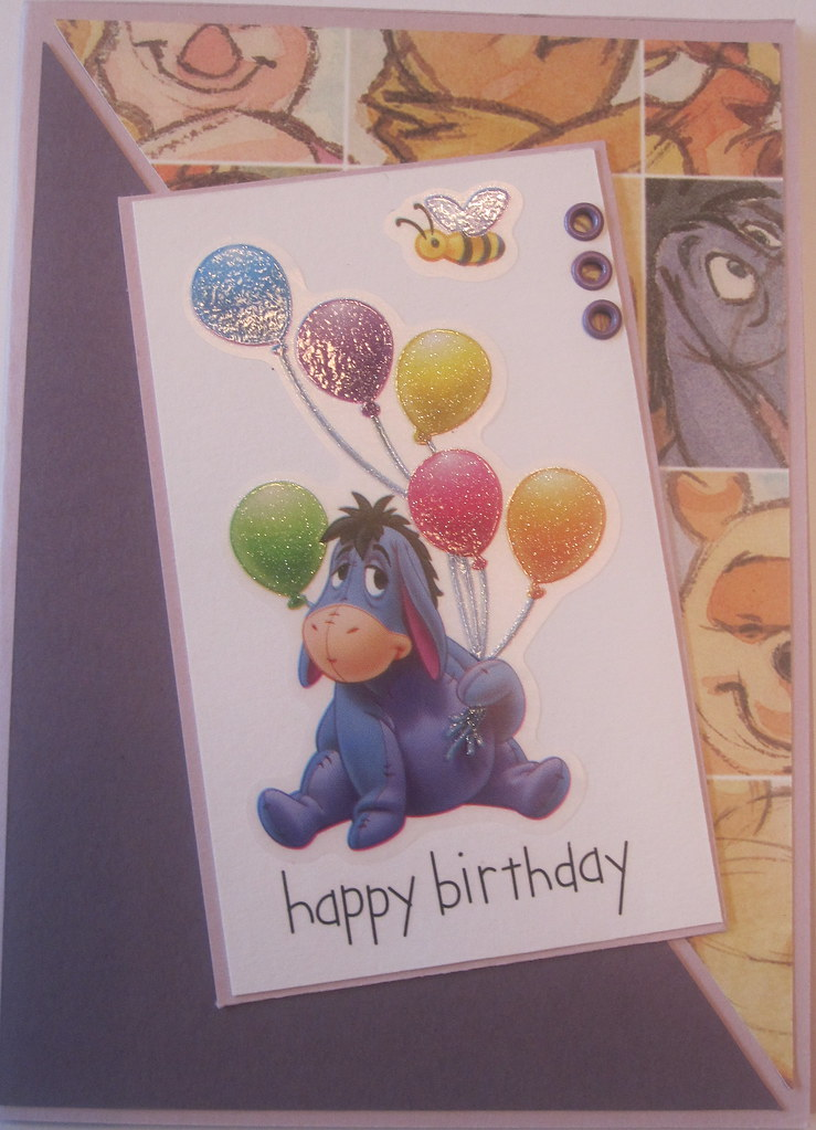 Eeyore And Balloons Birthday Card Handmade Cards By Emarie Flickr