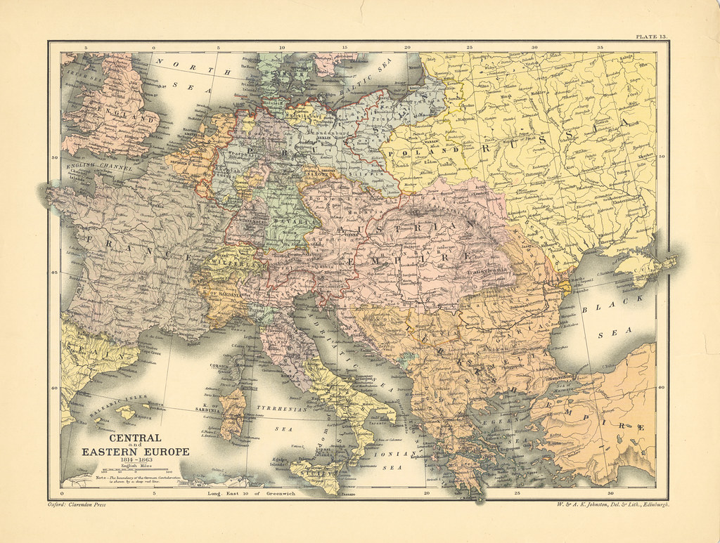 Map page of Section XIII Europe, 1814-1863 from Part XX of… | Flickr