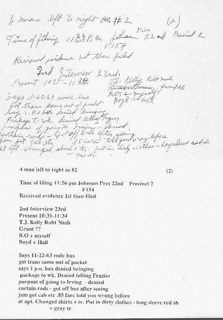 lee harvey oswald interview notes taken by captain will fr flickr