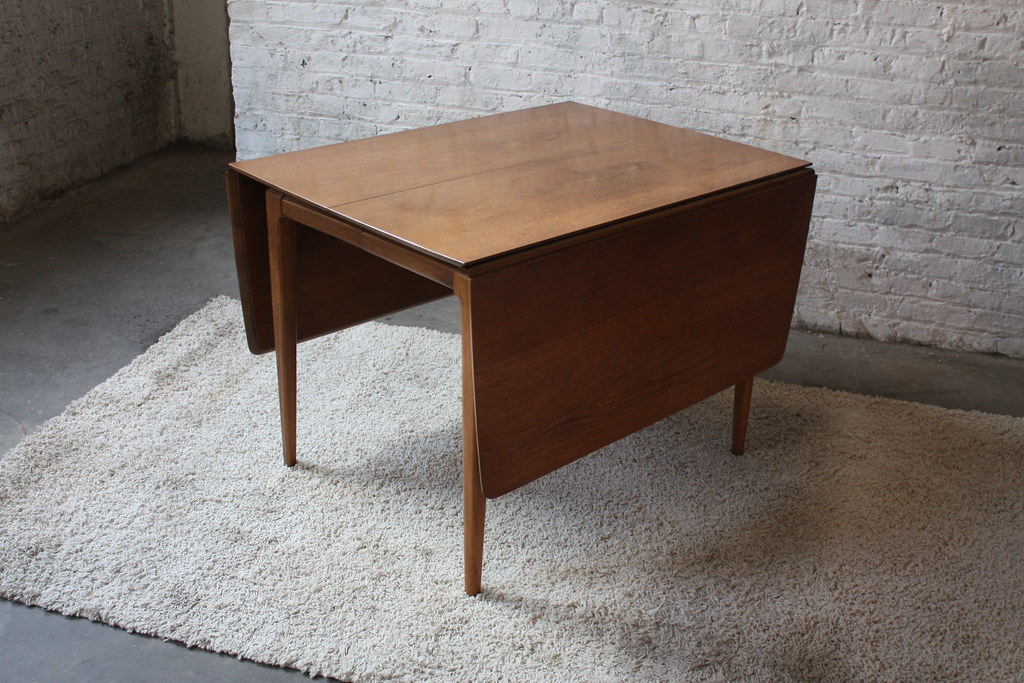 ... Sweet MCM Walnut Drop Leaf Dining Table W/ Six Cat Eye Chairs | By  Kennyk