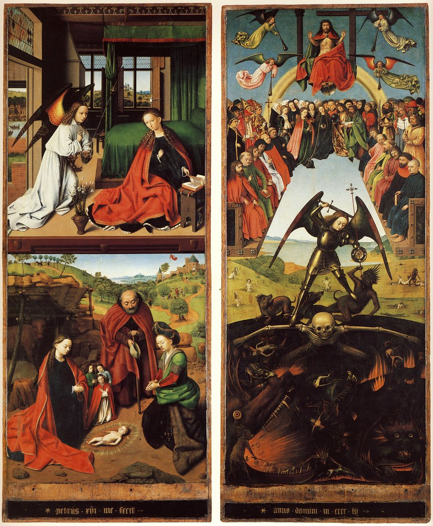 Annunciation;Nativity;Last judgment.1452.[Berlin] |