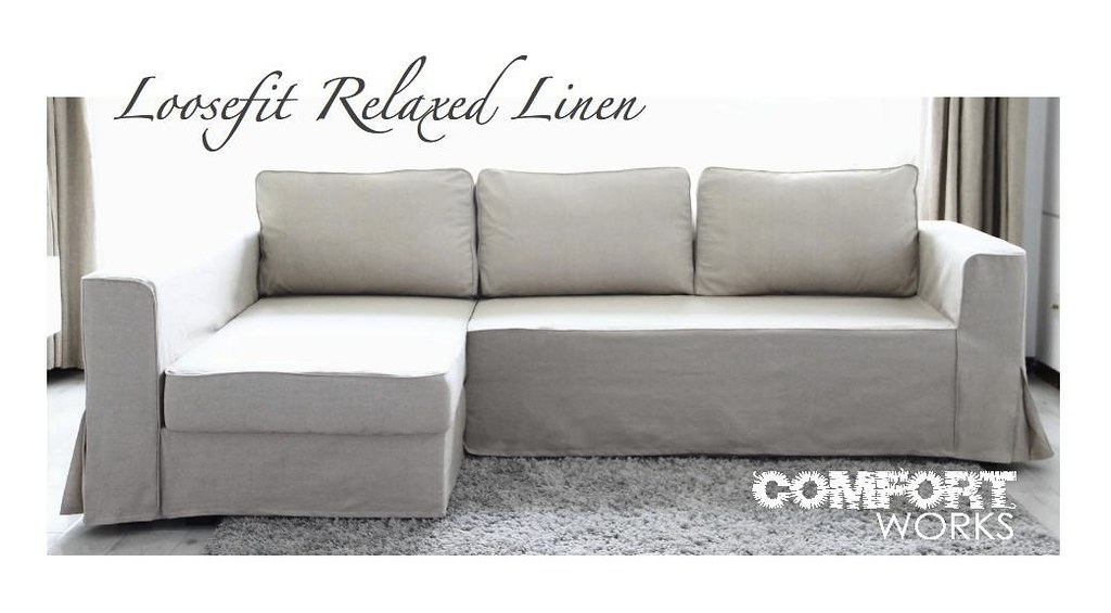 ... IKEA Manstad Sofa Bed Custom Slipcover   Comfort Works Loosefit Linen |  By Comfort Works Custom