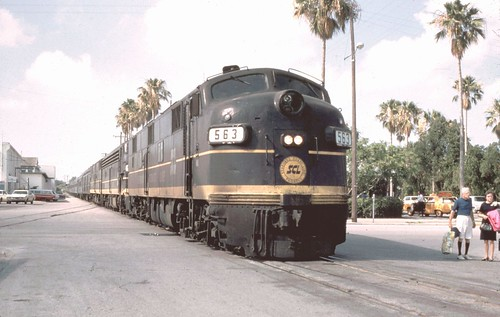 SCL passenger train has stopped in Clearwater ca. 1968 | by TPavluvcik