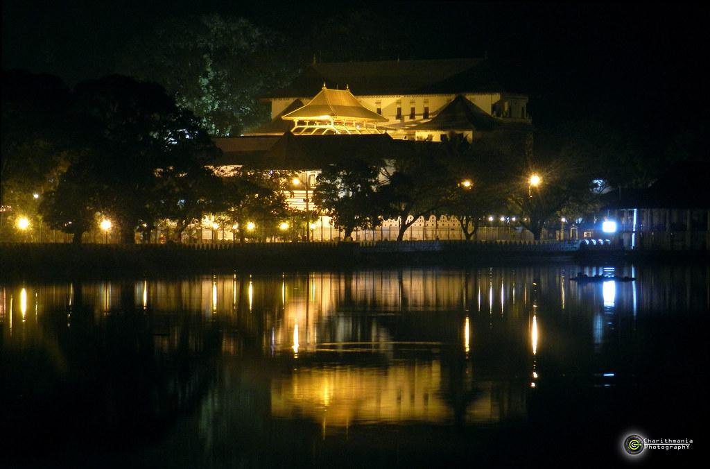 Famous Sri Lankan temple at night | Stock Photo | Colourbox