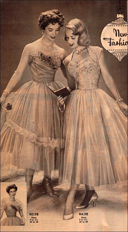 the 1950s-1952 short evening dresses | Mo | Flickr