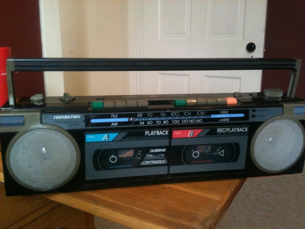 Vtg 1980s Soundesign BoomBox 4640 Nice Clean Detachable Speakers ...