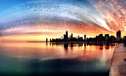 Chicago sunset on a 50 degree day in January | by Joshua Mellin