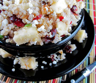 Quinoa Salad w/ Apples, Cranberries and Feta Cheese | by CinnamonKitchn