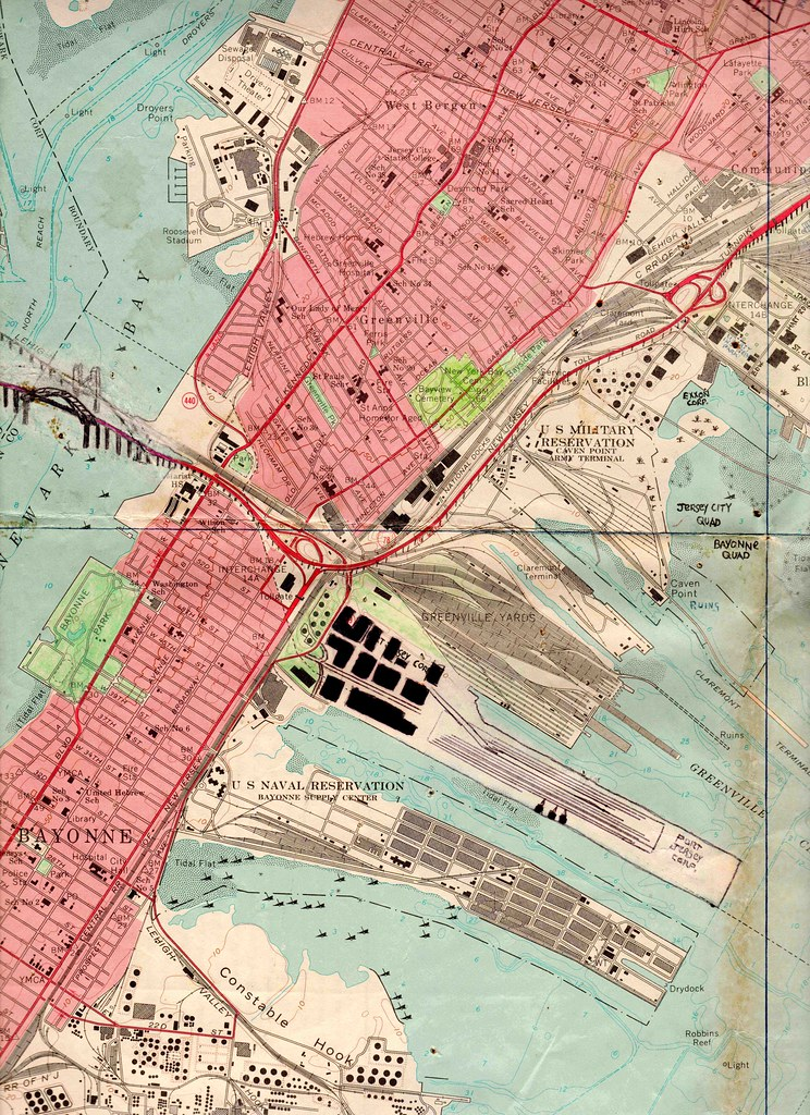 1970 map of Jersey City and Bayonne New Jersey showing th Flickr