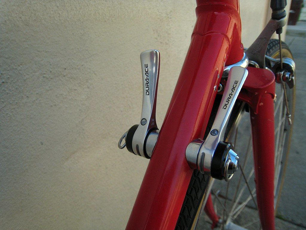 Shimano Dura-Ace 9-Speed Downtube Shifters on \'94 Bridgest… | Flickr
