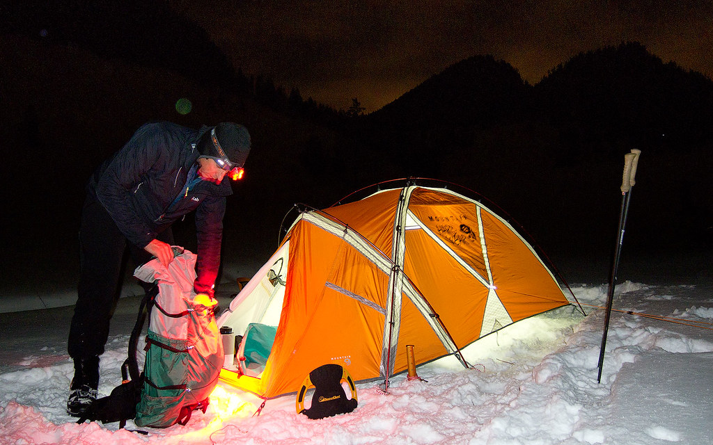 ... Mountain Hardwear EV 2 Tent | by tyrolmountains & Mountain Hardwear EV 2 Tent | Night Snowshoeing at Wendelsteu2026 | Flickr