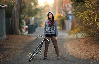 The girl with the brakeless bike | by Verb1der