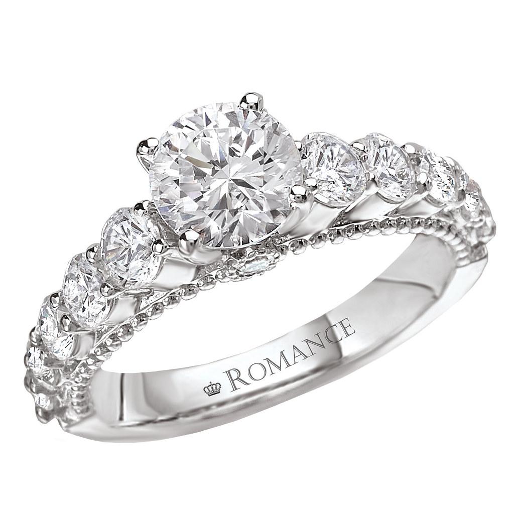Round Side Stone Diamond Engagement Ring  By Jacksonjewelers