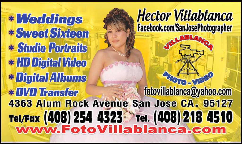 Quinceanera Wedding Photographer Videographer Digital Albums Business  Card   by Hector Villablanca  FotoVillablanca Quinceanera Wedding Photographer Videographer Digital Albu    Flickr. Photographer And Videographer For Weddings. Home Design Ideas