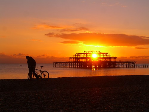 West Pier Cycle Silhouette | by somemorestuff