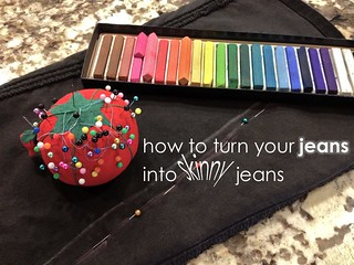 "How to Turn Your Jeans Into ""Skinny"" Jeans (Works For Maternity Jeans, Too!) 