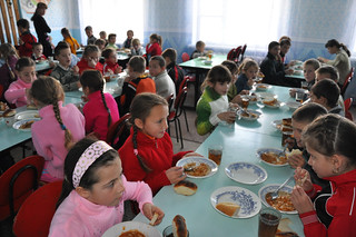 Students in a school cafeteria | by World Bank Photo Collection