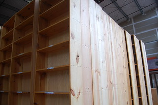 Knotty Pine Bookshelf Unites From Powells Books