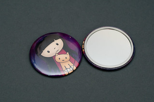 Best Friends Pocket Mirrors | by Doodlecats by Beth Wilson