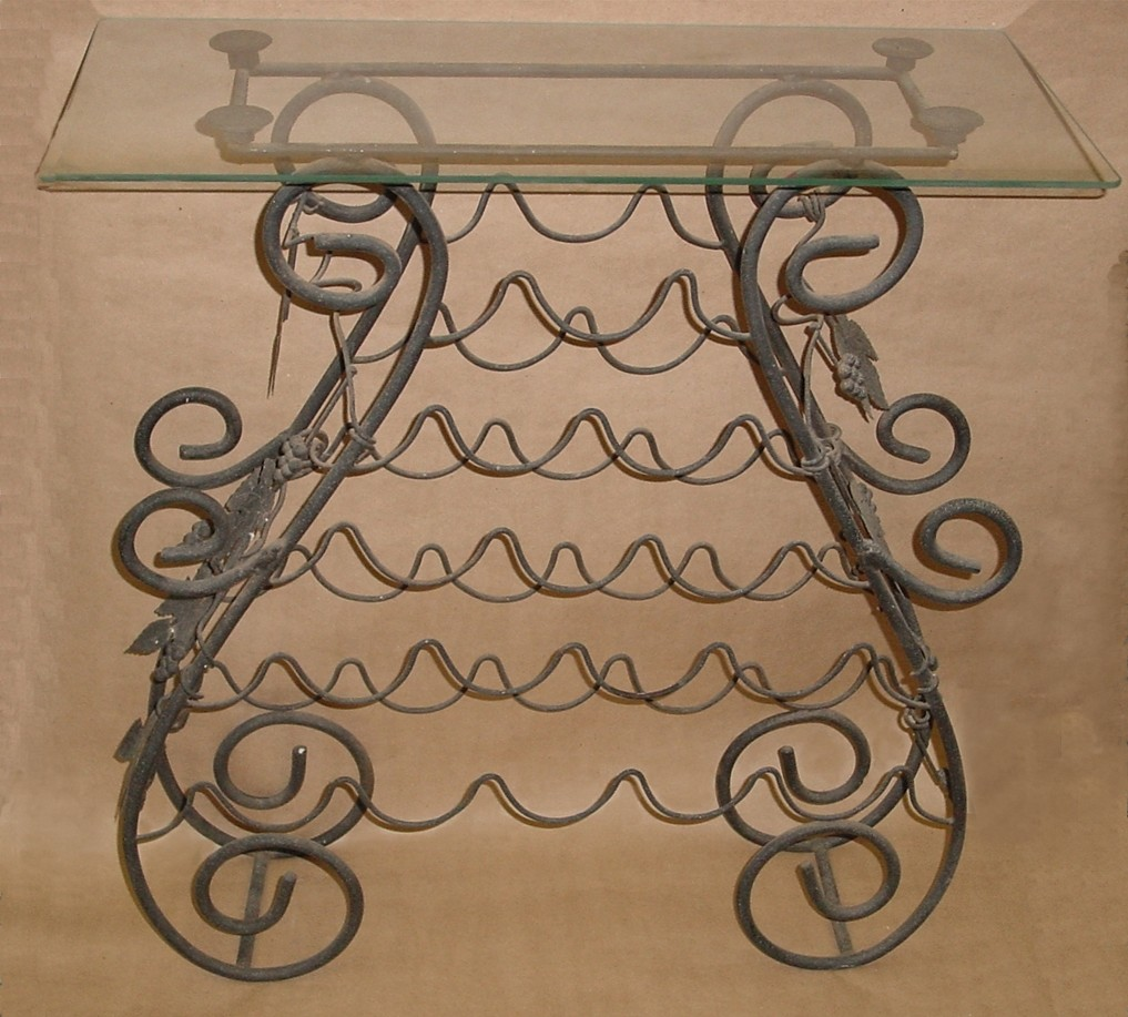 racks wrought baytree interiors iron undefined wine rack bottle item from