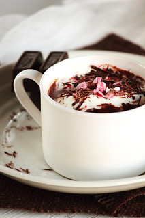 Peppermint Hot Chocolate | by pastryaffair