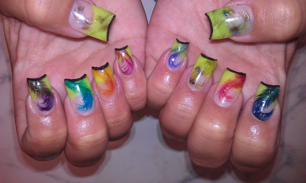 Angel Love Nail Art 2 Nail Art Made Using Colors Rom A Flickr