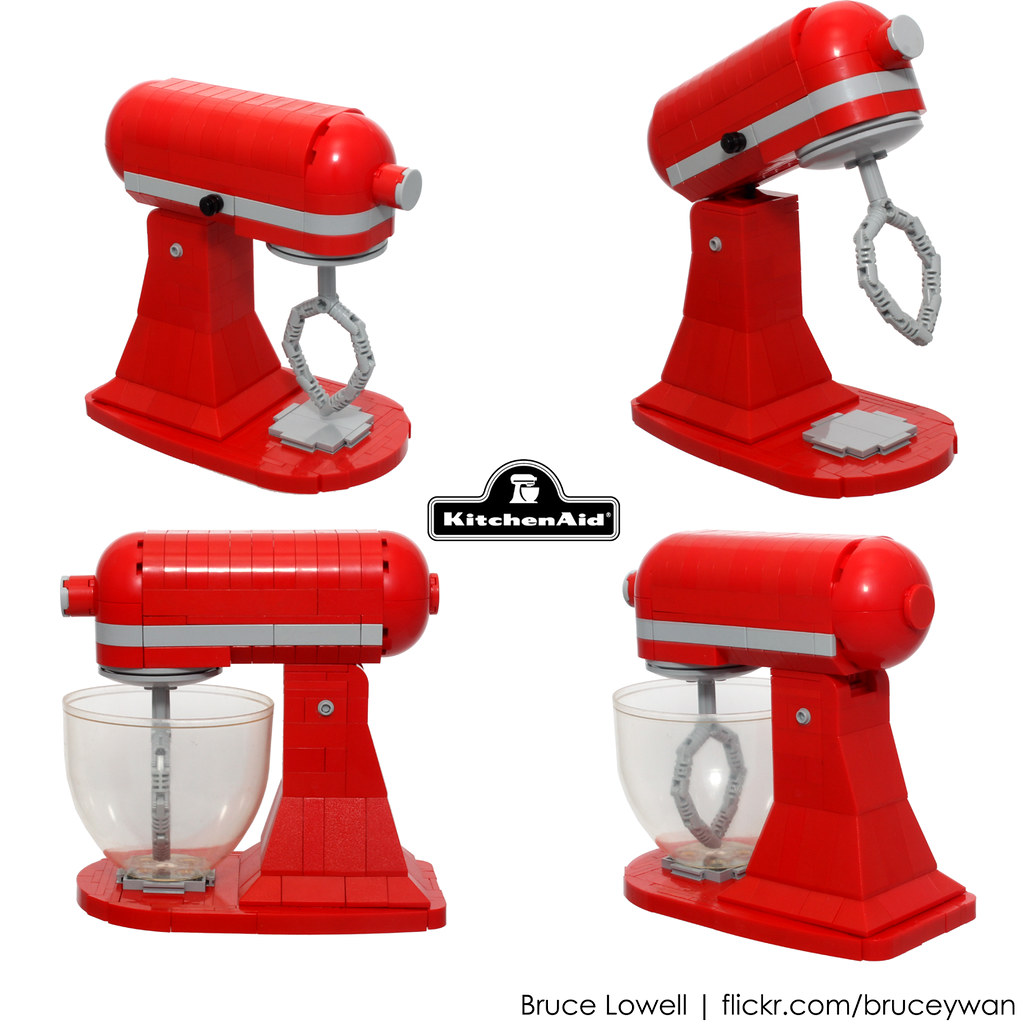 LEGO KitchenAid Tilt-Head Stand Mixer (Details) | Scale LEGO… | Flickr