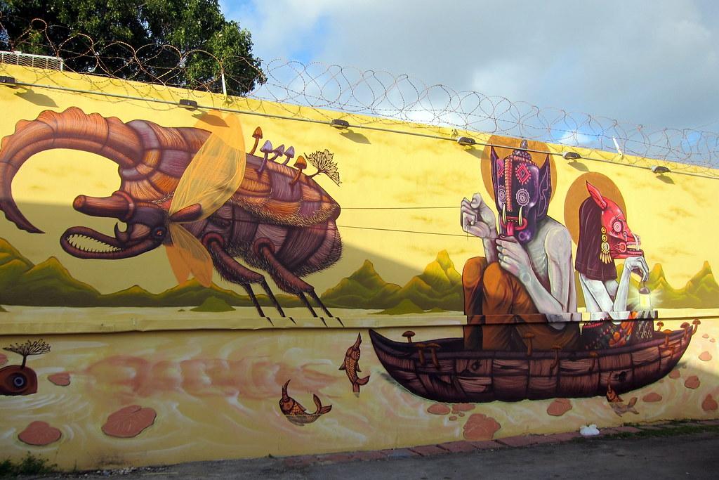 Miami - Wynwood: Wynwood Walls - Mural by Saner & Sego | Flickr