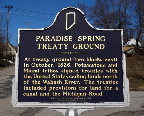 IN, Wabash-Paradise Spring Treaty Ground Historical Sign | by Alan C of Marion,IN