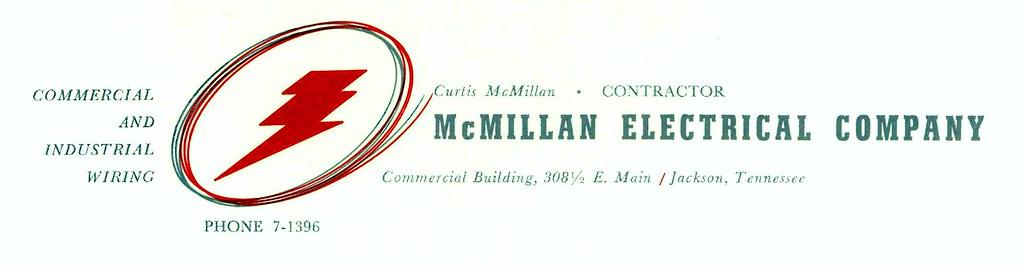 letterhead for McMillan Electrical Company, Jackson, TN   Flickr